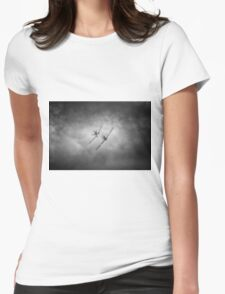 BBMF Spitfire and Hurricane Mono Womens Fitted T-Shirt