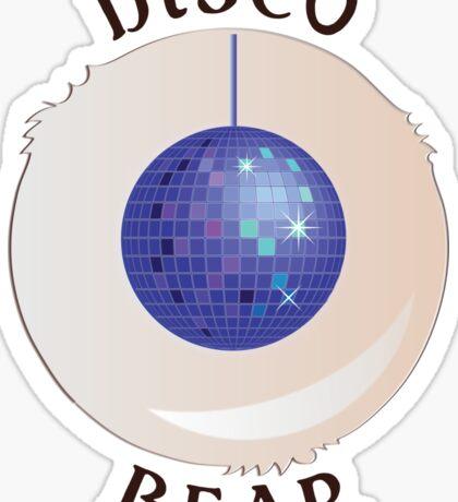 Disco Bear Sticker