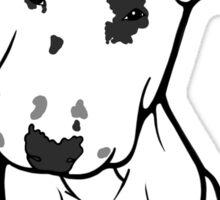 English Bull Terrier Black Eye Patch  Sticker