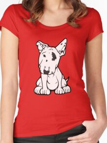 English Bull Terrier Black Eye Patch  Women's Fitted Scoop T-Shirt