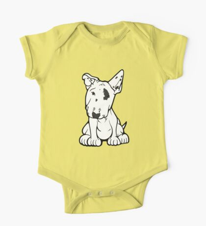 English Bull Terrier Black Eye Patch  One Piece - Short Sleeve