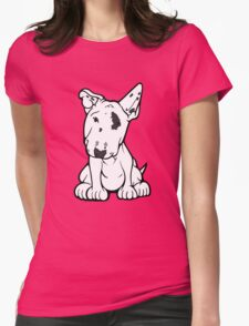 English Bull Terrier Black Eye Patch  Womens Fitted T-Shirt