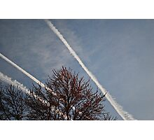 Chem Trails in the Sky Photographic Print