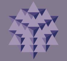 64 Tetrahedron Grid Kids Tee