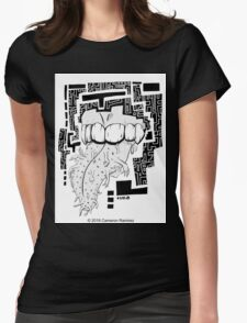 Chant The Sacred Words Womens Fitted T-Shirt