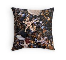 Beached Starfish  Throw Pillow