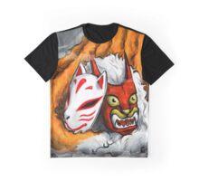 The Fox and the Cat - Kitsune to Neko Graphic T-Shirt