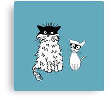 Cat superheroes Canvas Print