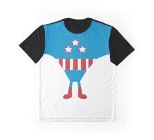 Red White Blue Super Hero Graphic T-Shirt
