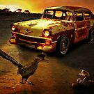Roadrunner The Snake and The 56 Chevy Rat Rod by ChasSinklier