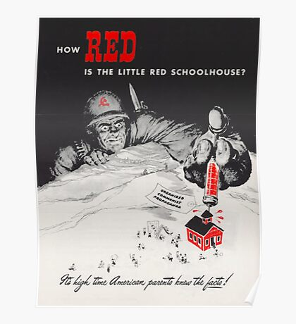How Red Is The Little Red School House Poster