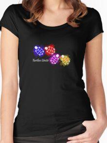 Turtles Unite - Artist Manda Women's Fitted Scoop T-Shirt