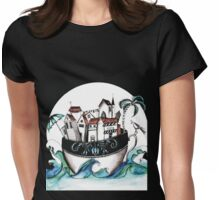 Teacup island Womens Fitted T-Shirt