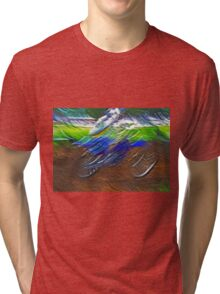 """The amazing effect of the slow speed 11  (c)(t) a PAINT    with humor ! """"Kiss the cool effect"""" without digital effects with compact kodak z 1285! on 29.07.2012 Tri-blend T-Shirt"""
