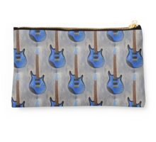 Blue Guitar Acrylic Painting  Studio Pouch