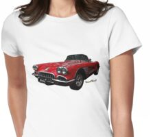 60 Corvette Roadster T-Shirt! Womens Fitted T-Shirt