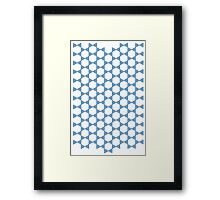 Iso Triangles Framed Print