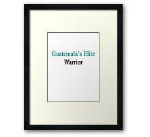 Guatemala's Elite Warrior  Framed Print