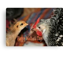 Mother's Day Poultry Canvas Print