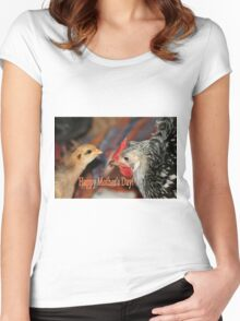 Mother's Day Poultry Women's Fitted Scoop T-Shirt