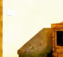 Arzachena: view square Pio XII Sticker