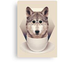 Caffeinimals: Wolf Canvas Print