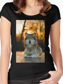 Beautiful Wolf Women's Fitted Scoop T-Shirt