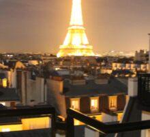 paris eiffel tower by night Sticker