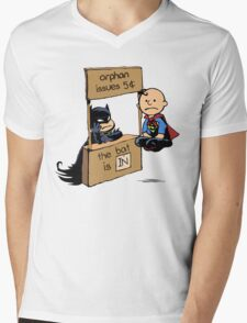The Bat Is In Mens V-Neck T-Shirt