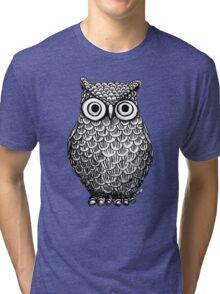 Owl Drawing Design Tri-blend T-Shirt