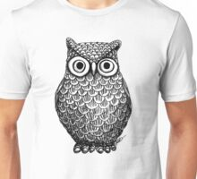 Owl Drawing Design Unisex T-Shirt