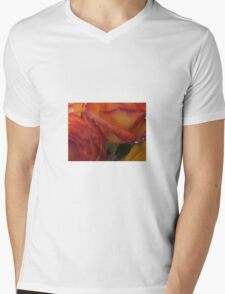 Roses Yellow Double Color Mens V-Neck T-Shirt
