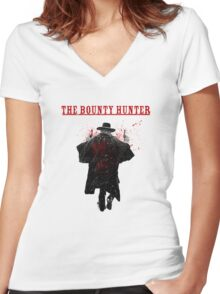The Bounty Hunter - The Hateful Eight Women's Fitted V-Neck T-Shirt