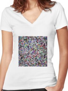 stain glass/jpcool79 Women's Fitted V-Neck T-Shirt