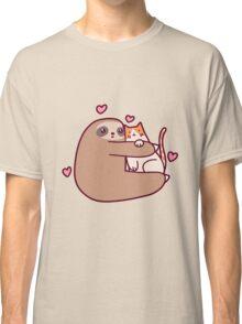 Sloth Loves Cat Classic T-Shirt