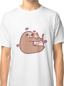 Sloth Loves Cat Classic T-Shirt