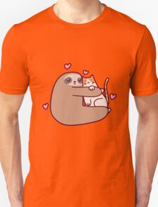Sloth Loves Cat T-Shirt