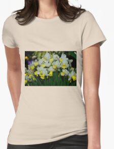 Jenny Daffodils Womens Fitted T-Shirt