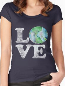 LOVE earth day Women's Fitted Scoop T-Shirt