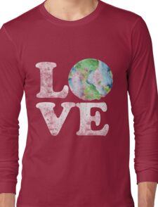 LOVE earth day Long Sleeve T-Shirt