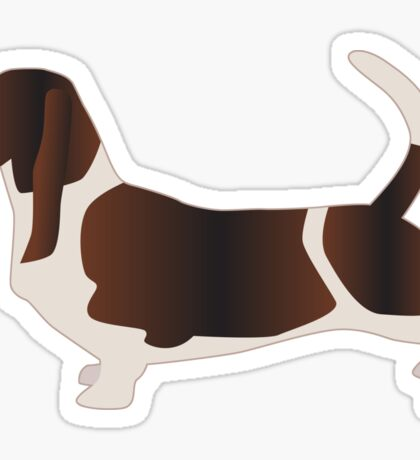 Basset Hound Basic Breed Silhouette Sticker