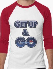 Get Up & Go! Men's Baseball ¾ T-Shirt
