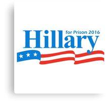 hillary for president bumper sticker Canvas Print