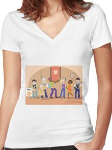 Five & Dime Women's Fitted V-Neck T-Shirt