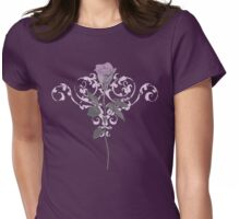 Vintage Lilac Rose Womens Fitted T-Shirt