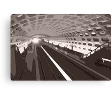 Metro abstraction Canvas Print