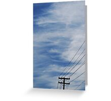 Sky and Wires Greeting Card