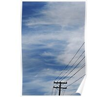 Sky and Wires Poster