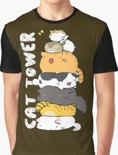 Cat Tower Graphic T-Shirt