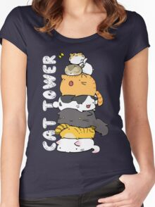 Cat Tower Women's Fitted Scoop T-Shirt
